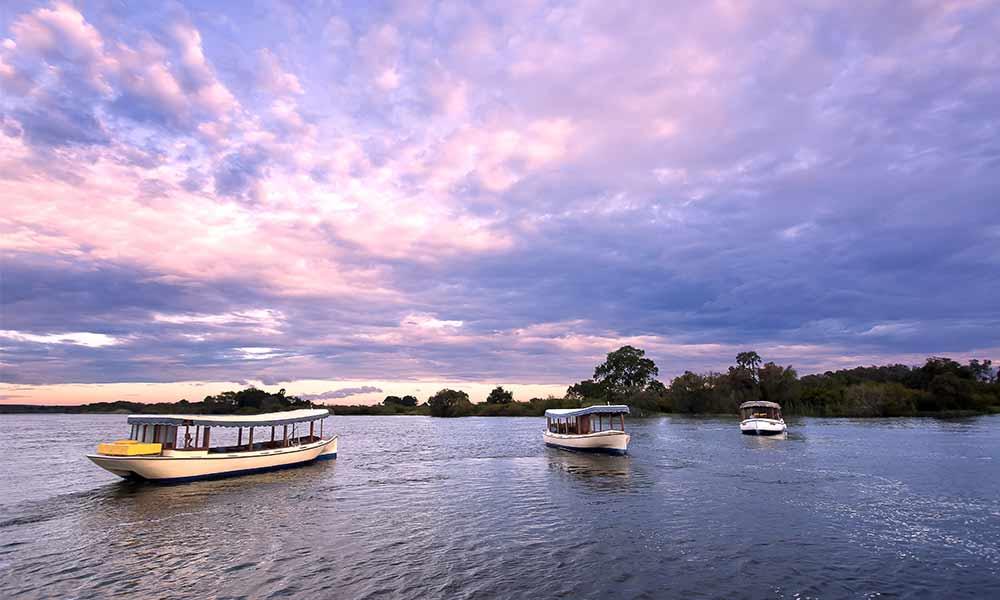 Purple Sunset Raikane Victoria Falls Zimbabwe