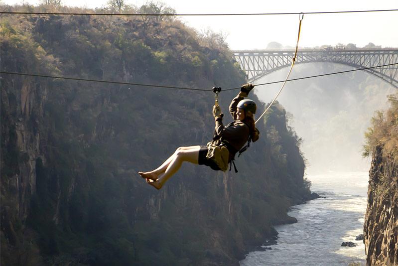 Zip lining Victoria Falls Activities